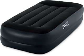 Intex Pillow Rest Raised Airbed with Built-in Pillow and Electric Pump, Twin, Bed Height 16.5""