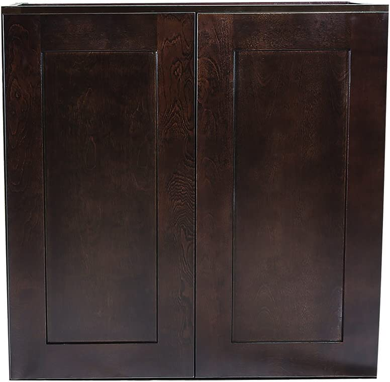 Design House Kitchen Cabinets-Wall Fees Arlington Mall free Espresso 36 in