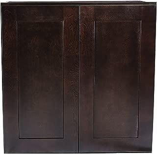 Design House Kitchen Cabinets-Wall, 36 in, Espresso