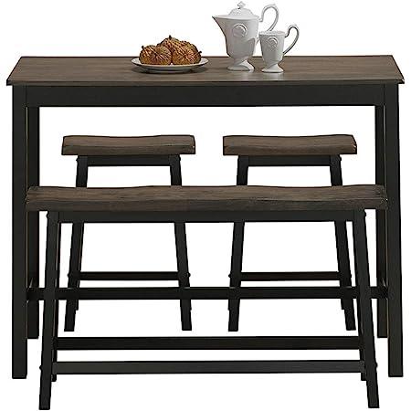 Safavieh Home Collection Haley 4pc Pub Set Grey Furniture Decor