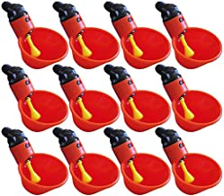 Vansee❤❤Feed Automatic Bird Coop Poultry Chicken Fowl Drinker Water Drinking Cups 12Pcs Red