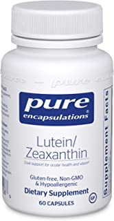Pure Encapsulations - Lutein/Zeaxanthin - High Strength Blend for Macular Support and Overall Visual Functioning - 60 Caps...