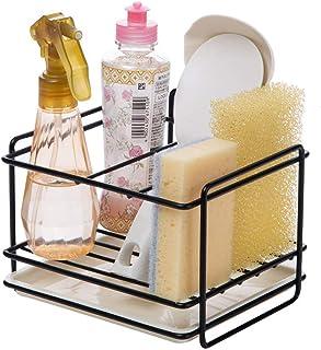 Kaxich Porte éponges cuisine rangement d'évier support d'éponge en le fer panier porte-ustensiles chiffon de nettoyage et ...