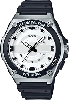 Casio Men's Quartz Watch with Resin Strap, Black, 18.5 (Model: MWC-100H-7AVCF)