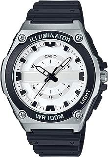 Men's Quartz Watch with Resin Strap, Black, 18.5 (Model: MWC-100H-7AVCF)