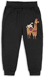 Easionerol Cute Pug Dog Riding On Llama Girls Long Sweatpants Jogger Trousers