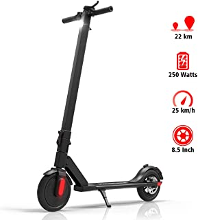 urbetter Electric Scooter, 250W High Power Smart E-Scooter, Max Speed 25km/h, 15 Miles Long-Range Battery, 8.5 Inch Folding Electric Scooter Load to 265lb Max for Adult City Urban Riders