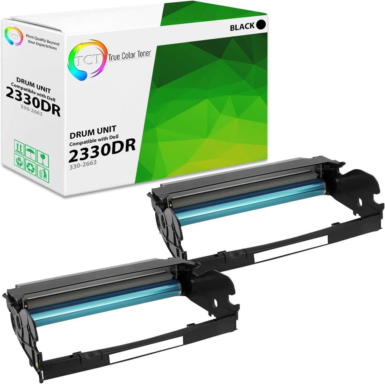 TCT Premium Compatible PK496 330-2663 Drum Unit Replacement for Dell 2330 2330D 2330DN 2350 Printers (30,000 Pages)- 2 Pack