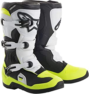 Alpinestars 2019 Youth Tech-3S Boots (6) (Black/White/FLO Yellow)