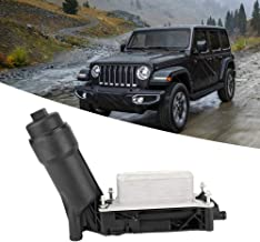 Qiilu Engine Oil Filter Cooler Adapter Housing for Jeep Dodge 05184294AE