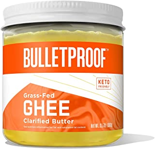 Grass Fed Ghee, 13.5 Oz, Bulletproof 100% Grass Fed, Pasture Raised Clarified Butter Fat, Keto, Paleo, Lactose Free, Casei...