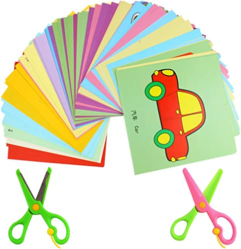 discount Larcele Kids Fun Paper Cut high quality Set, Handmade outlet online sale Paper Art Toys, DIY Students Scissors Crafts Gift Kit, 192 Pages with 2 Safe Scissors ETJZ-01 online