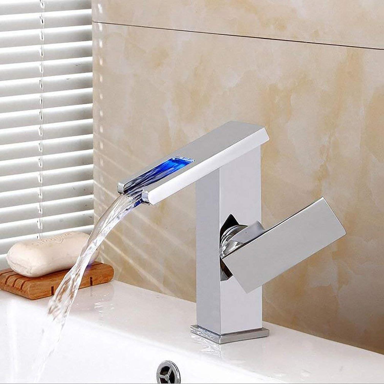 MWPO Faucet-4456 Badezimmerzubehr, einfach zu bedienende und benutzerfreundliche LED-Waschtischarmaturen, Warm- und Kaltwasserfall-Waschtischarmatur, Waschtisch-Einloch-Mischbatterien
