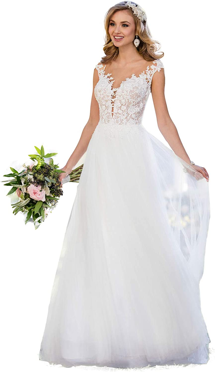 Lover Kiss sold out Women's Shipping included Floral Lace Shoulder Wedding Dresses Off Long