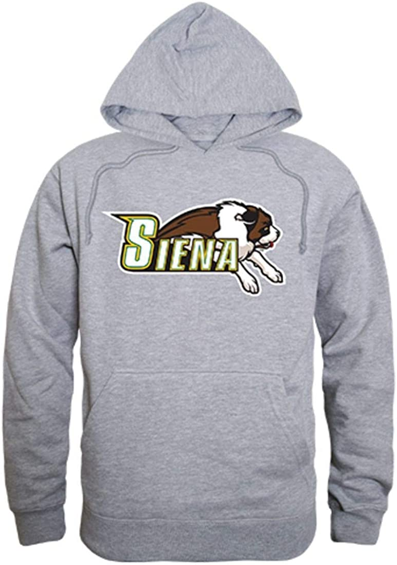 W Republic Apparel Siena College Freshman Pullover Sweatshirt Hoodie Heather Grey
