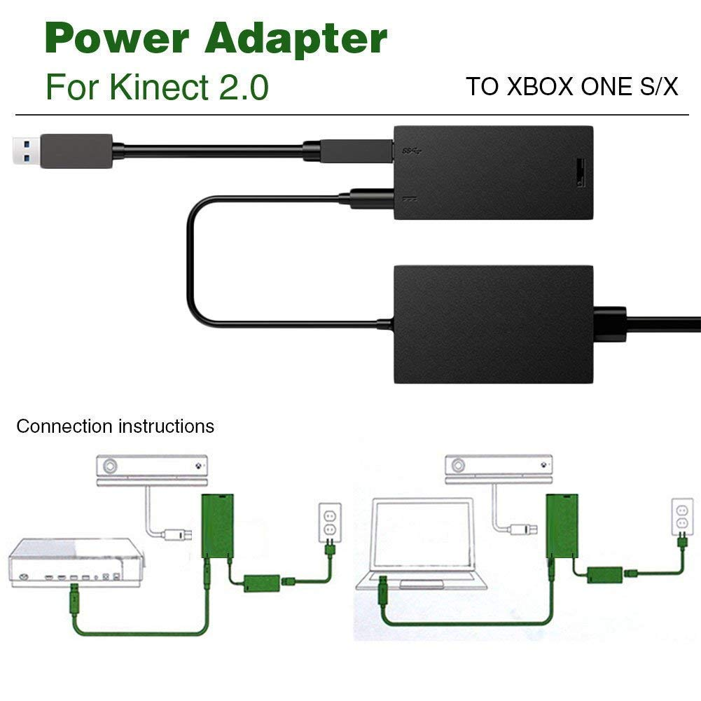 Kinect Adaptador para Xbox One S X, Microsoft kinect Adapter reemplazo para PC Xbox One S/Xbox One X y Windows 10, Enchufe de la EU: Amazon.es: Videojuegos