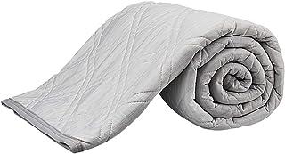 C-J-W ひんやり敷きパッド 接触冷感 ベッドパッド 夏用 クールパッド 涼感 シングル リバーシブル 吸湿速乾 快眠寝具 手触り滑らか爽快 Qmax値0.395 ズレ防止ゴムバンド付き 抗菌防臭防ダニ 洗濯可 150×200CM グレー
