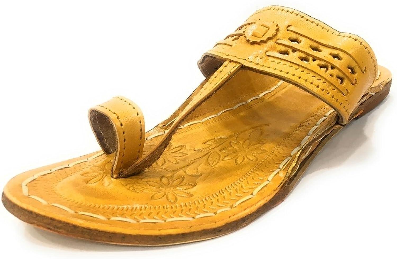 Step n Style Womens Kolhapuri Chappal Indian Jutti Flat shoes Ethnic Flipflop Mojari