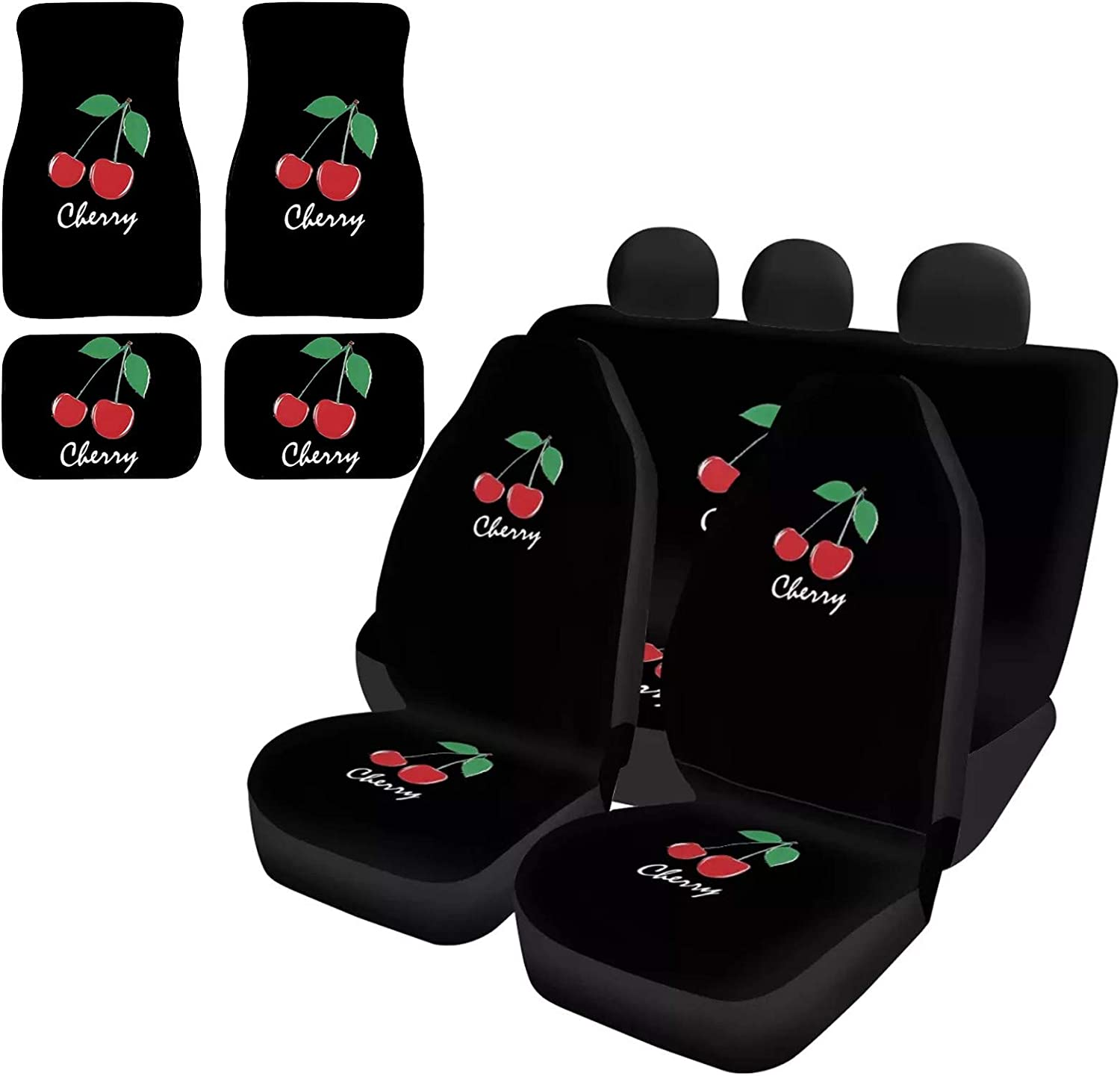 UZZUHI Fashion 40% OFF Cheap Sale Cherry Black Car Seat Covers Fron Denver Mall with Duty Heavy
