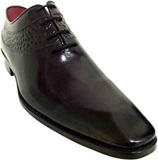 [Oscar William] Black Ralph Men's Luxury Classic Handmade Leather Shoes