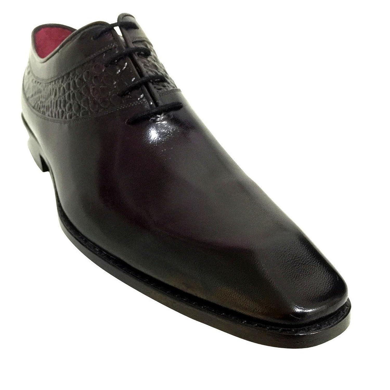 [Oscar William] Black Ralph Men's Luxury Classic Handmade Leather Shoes