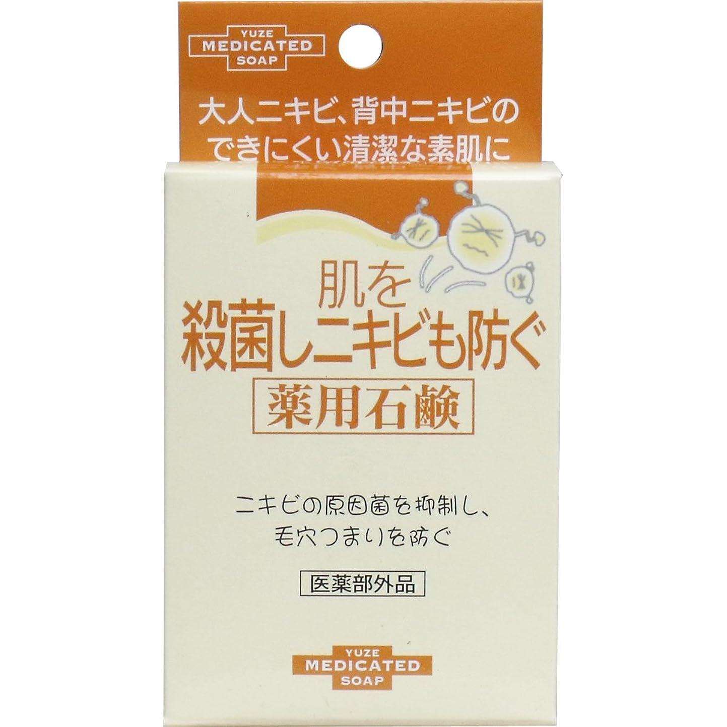 添加剤感謝全国ユゼ 肌を殺菌しニキビも防ぐ薬用石鹸 6セット