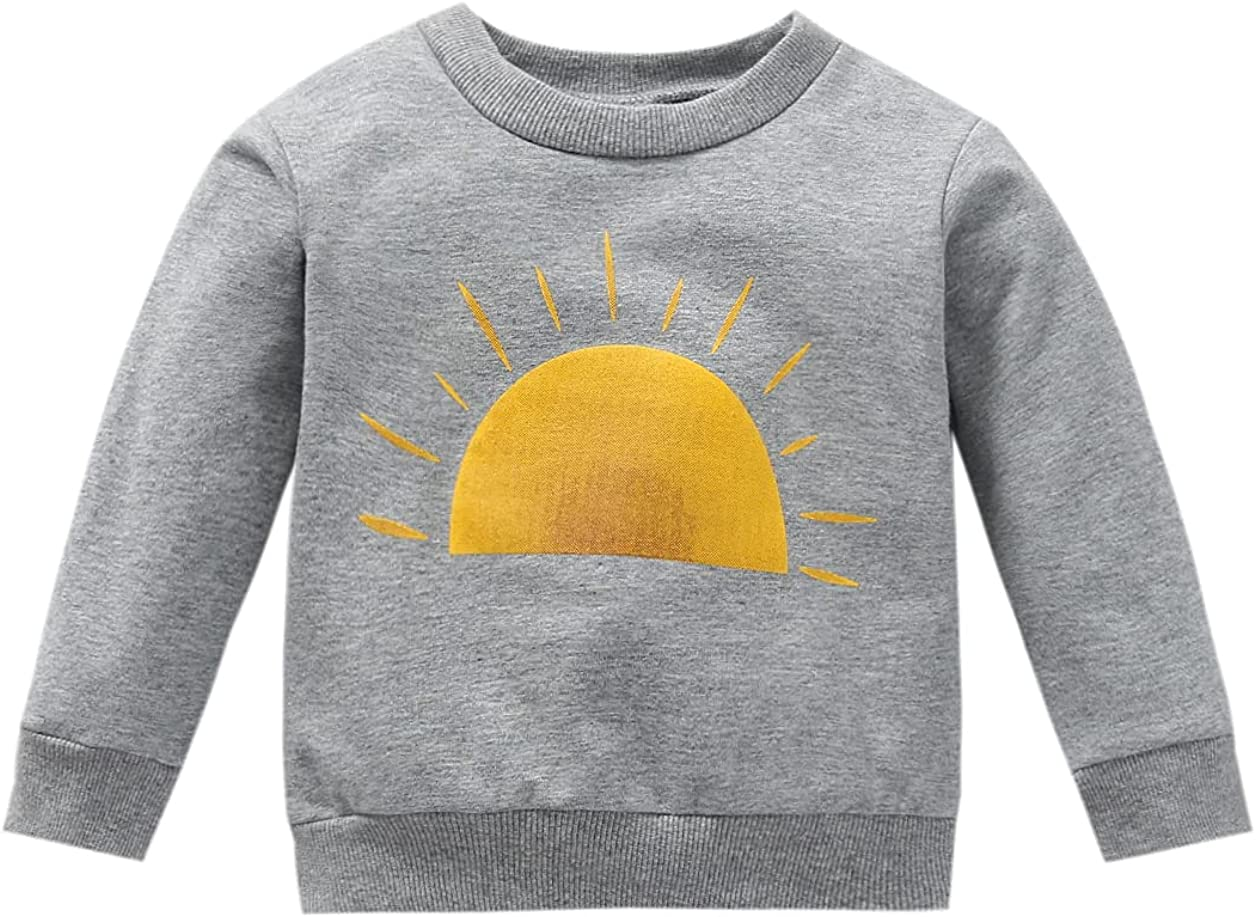 Toddlers Autumn High material Winter Pullover Spasm price Tops Boys Girls Print Sun Little