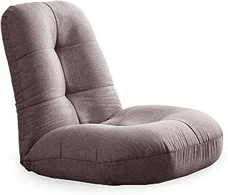 タンスのゲン 座椅子 あぐら座椅子 極厚座面 14段階 リクライニング 幅60cm へたりにくい ポケットコイル コンパクト 布地 グレージュ 15210040 01 AM 【50887】