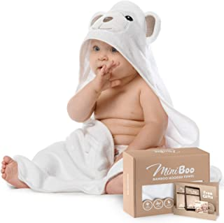 Premium Ultra Soft Organic Bamboo Baby Hooded Towel with Unique Design - Antibacterial and Hypoallergenic Baby Towels for ...