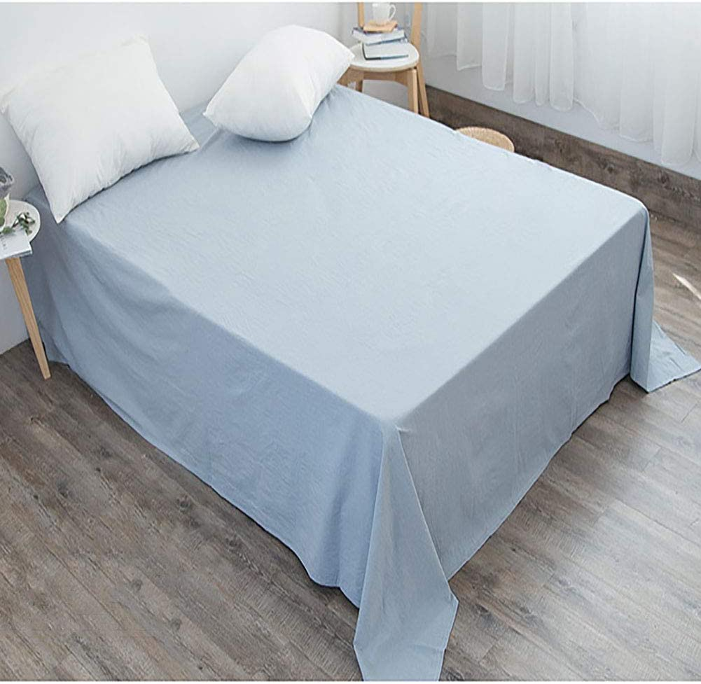 Manufacturer direct delivery TIYKI 100% Washed SEAL limited product Cotton Flat Sheet Bed L Breathable Comfortable