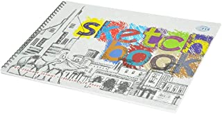 FIS Sketch Book White B4 with Spiral Binding, 20-Sheets, 180GSM - FSSKSB4201801