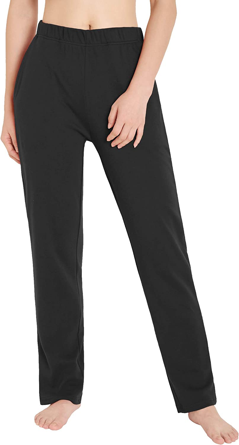 Weintee Women's Tampa Mall Cotton Sweatpants Knit with Pockets Credence Pants