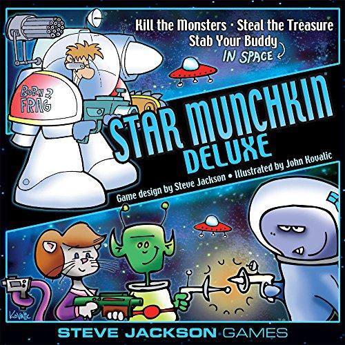 Steve Jackson Games SJG01502 - Star Munchkin Deluxe englische Ausgabe, Kartenspiel
