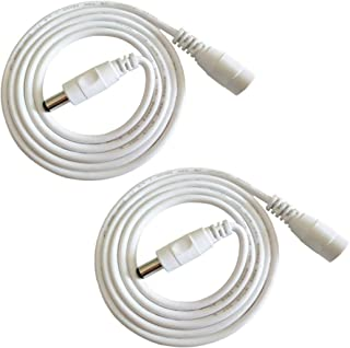 Liwinting 2pcs 1m/3.28Feet DC Extension Cable, 12V DC Power Adapter Plug Extension Cord 5.5mm x 2.1mm Male to Female Exten...