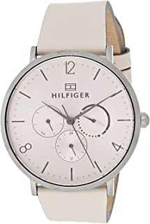 Tommy Hilfiger 1782034 Womens Quartz Watch, Analog Display and Leather Strap, Rose Gold