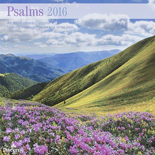 """DaySpring 12"""" x 12"""" 2016 12-Month Wall Calendar, Psalms of Praise"""