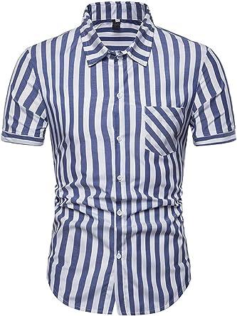 Camisas Verano Hombre Moda Fiesta Basicas Blusas Superiores ...