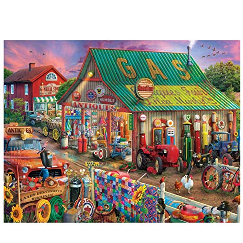 Country Life Market: Rompecabezas para Padres E Hijos para Adultos Y Niños, Rompecabezas Creativos En 3D, Juegos De Bricolaje para Juegos De Ocio, Regalos Navideños para Niños-(1500 tabletas)-Papel