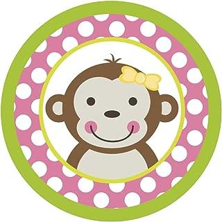 Mod Monkey Girl {Pink Polka Dots} Edible Cake Topper Decoration