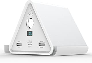 cheero Power Mountain 50000mAh 大容量 モバイルバッテリー【PSE取得済】Power Delivery 対応 LEDライト デバイススタンド 防滴カバー 付属 USB C 入出力口 iPhone & Android 対応 3ポート 急速充電 アルミボディー CHE-086
