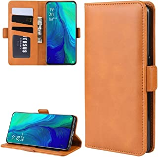 Phone case For Oppo Reno 10x zoom/Oppo Reno 5G Double Buckle Crazy Horse Business Mobile Phone Holster with Card Wallet Br...