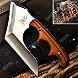 Tactical Knife Hunting Knife Survival Knife Full Tang Hand Axe Fixed Blade Knife American Flag Sharp Edge Camping Accessories Camping Gear Survival Kit Survival Gear Tactical Gear 76445 (Chrome)