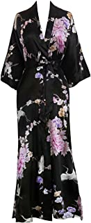 Old Shanghai Kim+ONO Women's Kimono Long Robe - Chrysanthemum & Crane
