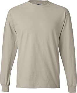 Hanes Mens Beefy-T Long-Sleeve T-Shirt