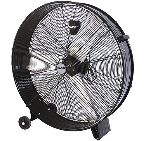 """DMS® ITV-90 Industrie Ventilator Trommelventilator Windmaschine, Bodenventilator Hallenlüfter Ø 90- cm (35\"""") Trommelgebläse, Industrieventilator Standventilator, Hallenkühlung 400 Watt, 13800 m³/h"""