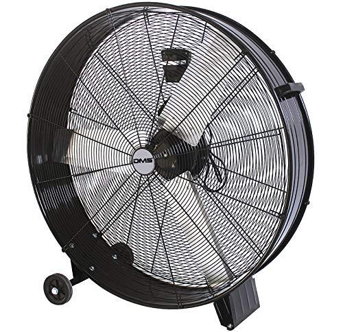 DMS® ITV-90 Industrie Ventilator Trommelventilator Windmaschine, Bodenventilator Hallenlüfter Ø 90- cm (35