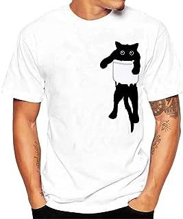 Men's Casual Short Sleeve T-Shirt, Fashion Slack O-Neck Cute Monkey Print Top Tee