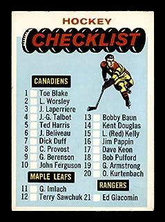 1965 Topps #66 Checklist VGEX X1760120