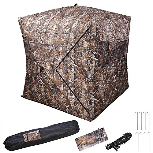 AW Pro 58x58x65 Hunting Blind Tent 150D Polyester Fibre w/Carrying Bag Outdoor Sport Shooting Windproof Waterproof