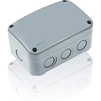 """Nineleaf ABS Plastic Dustproof Waterproof IP66 Junction Box Outdoor External Universal Electrical Project Enclosure Grey 125x86x62mm (4 7/8"""" 3 1/4"""" 2 1/4"""") fit 20mm Cable Gland for Outdoor Use"""